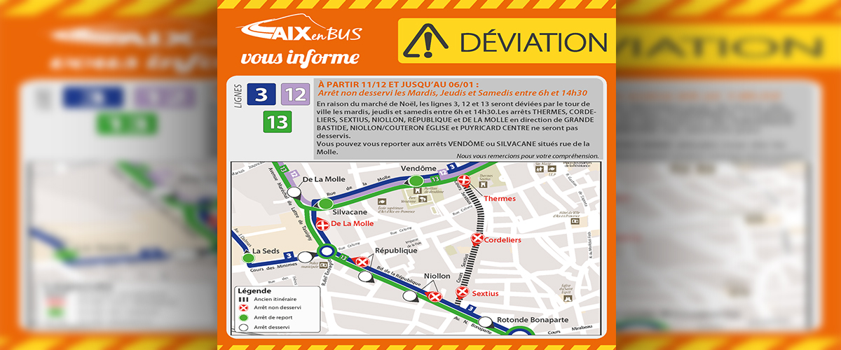 AIX EN BUS - DEVIATIONS